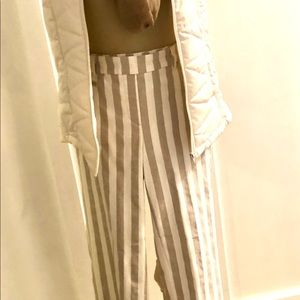 Sharagano Pants & Jumpsuits - NWT Sharagano stripped pant